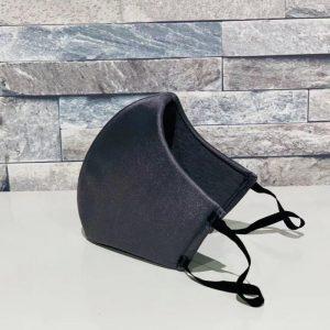 補正下着縫製メーカーの熟練技術者がつくる立体4層構造マスク(グレー)