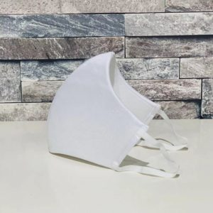 補正下着縫製メーカーの熟練技術者がつくる立体4層構造マスク(ホワイト)