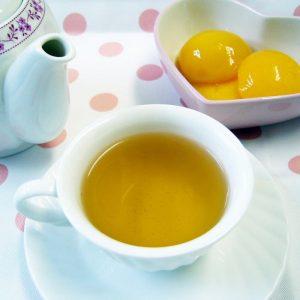 ラブタイムカフェ。ピーチのカフェインレス紅茶(フレーバーティー)