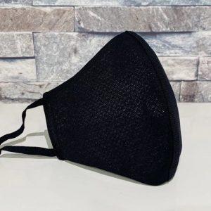 創業50年超の補正下着縫製メーカーの熟練技術者がつくるダブルメッシュマスク。ブラック