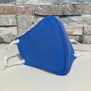 創業50年超の補正下着縫製メーカーの熟練技術者がつくるダブルメッシュマスク。ペールブルー