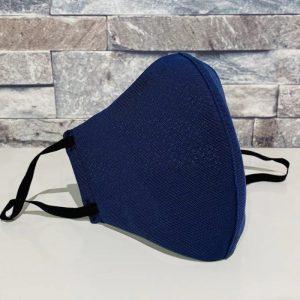 創業50年超の補正下着縫製メーカーの熟練技術者がつくるダブルメッシュマスク。ネイビー