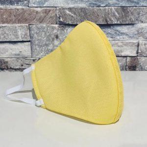 創業50年超の補正下着縫製メーカーの熟練技術者がつくるダブルメッシュマスク。レモンイエロー