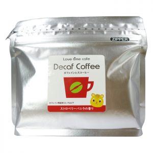ストロベリーバニラのカフェインレスコーヒー(パッケージ)