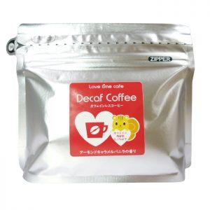 アーモンドキャラメルバニラのカフェインレスコーヒー(パッケージ)