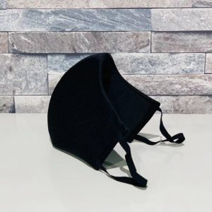 補正下着縫製メーカーの熟練技術者がつくる立体4層構造マスク(ブラック)
