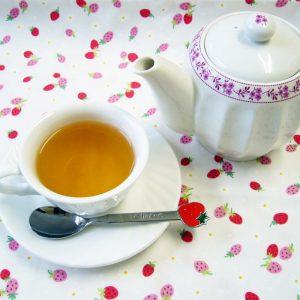 ラブタイムカフェ。ストロベリーのカフェインレス紅茶(フレーバーティー)