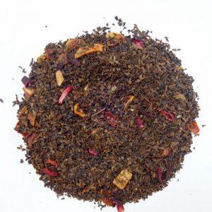 ラブタイムカフェ。アップルキウイストロベリーのカフェインレス紅茶(茶葉:50g)