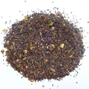 ラブタイムカフェ。オレンジミントのカフェインレス紅茶(茶葉:50g)