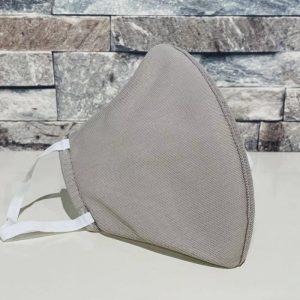 創業50年超の補正下着縫製メーカーの熟練技術者がつくるダブルメッシュマスク。アッシュグレー