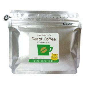 チョコレートココナッツのカフェインレスコーヒー(パッケージ)